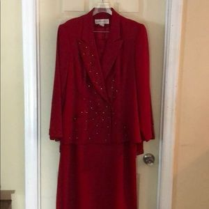 Other - Red DonnaVinci Jacket and Skirt
